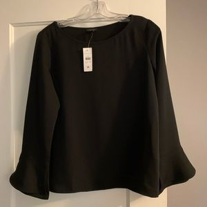 Ann Taylor blouse with flared sleeves xs NWT